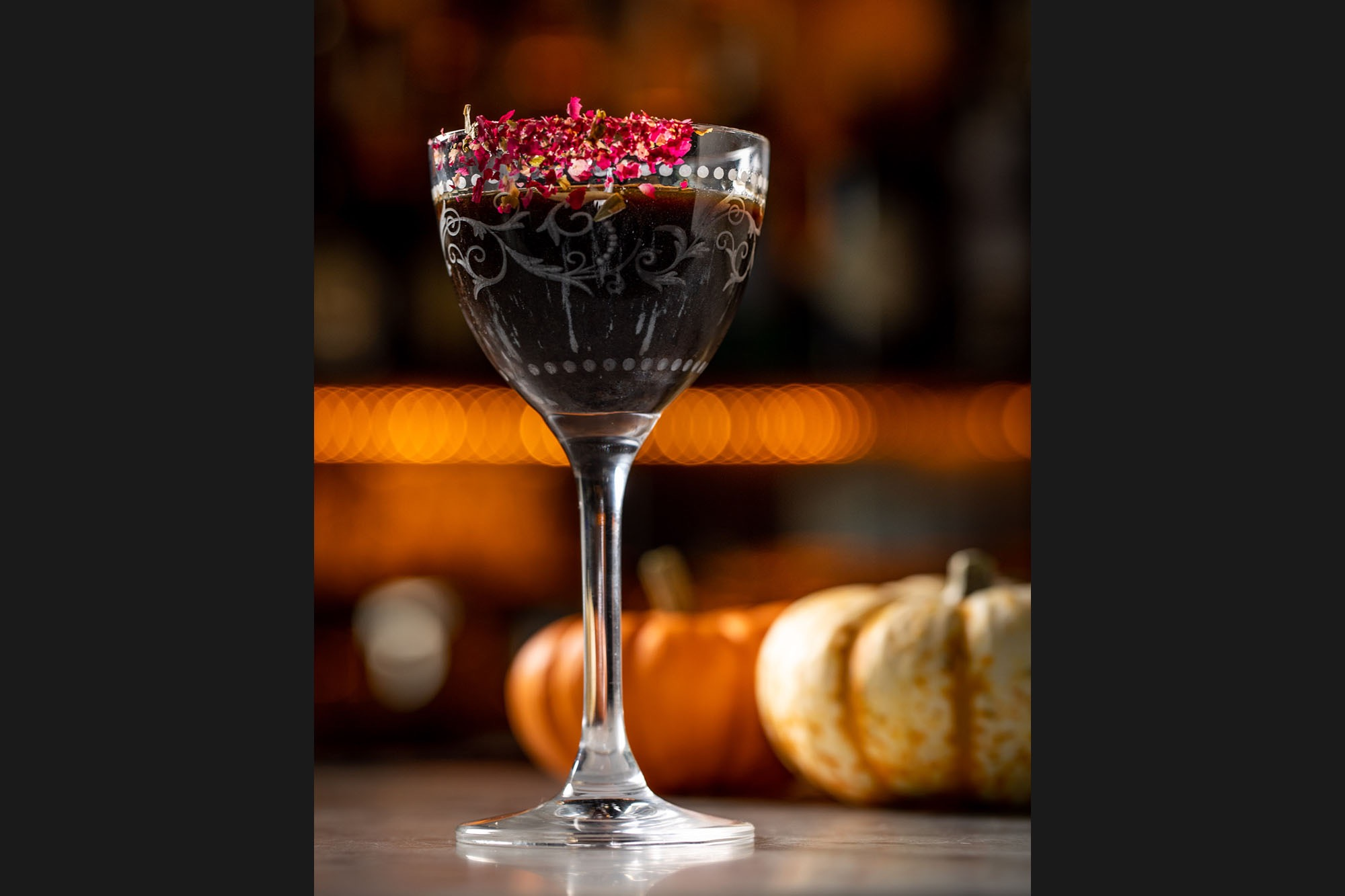 A halloween themed cocktail