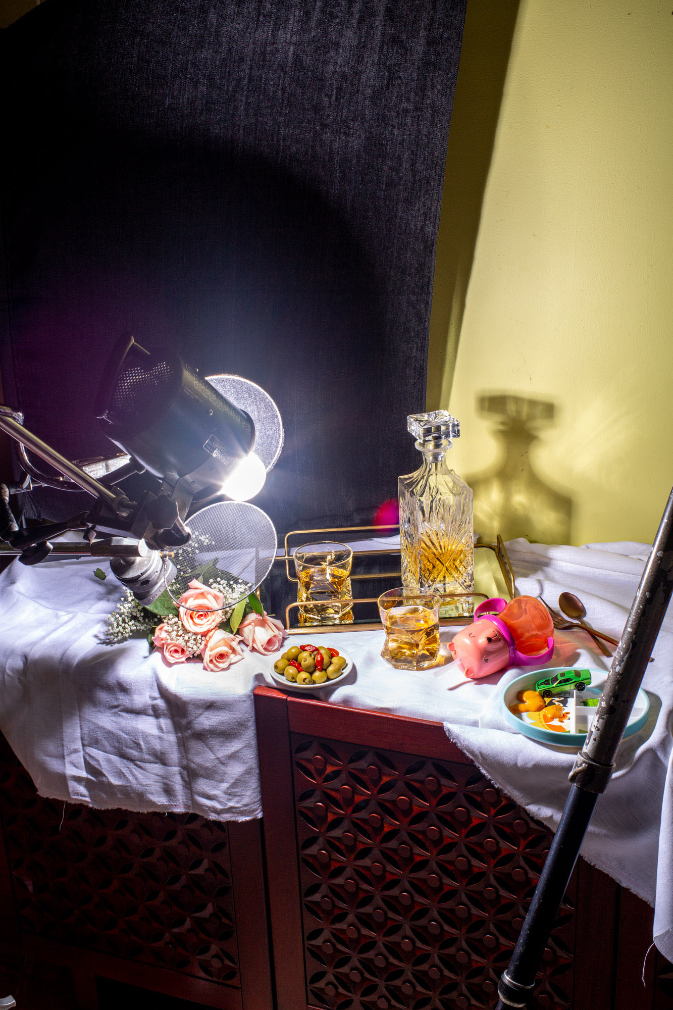 behind the scenes view of creative food photography